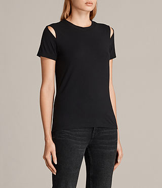 Donne T-shirt Dani (Black) - product_image_alt_text_2