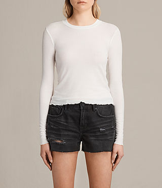 Women's Bea Crop Tee (Chalk White) -