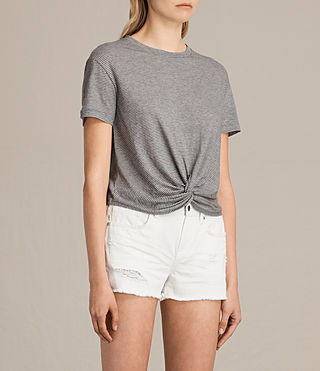 Mujer Camiseta Carme Stripe (GREY MARL/NUDE) - product_image_alt_text_2