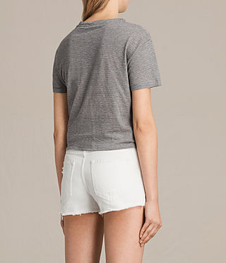 Mujer Camiseta Carme Stripe (GREY MARL/NUDE) - product_image_alt_text_3