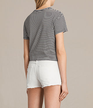 Womens Carme Stripe Tee (SMOKE NAVY/OYSTER) - product_image_alt_text_3