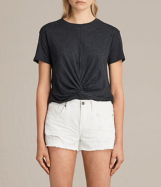 Womens Carme Tee (Charcoal Marl) - product_image_alt_text_1