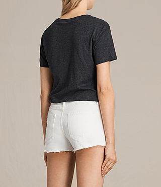 Womens Carme Tee (Charcoal Marl) - product_image_alt_text_3