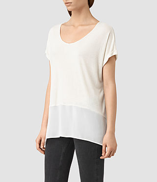 Mujer Camiseta Amie (SMG WHT/CLK WHT) - product_image_alt_text_2