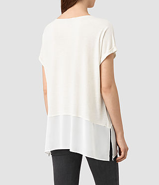 Mujer Camiseta Amie (SMG WHT/CLK WHT) - product_image_alt_text_3