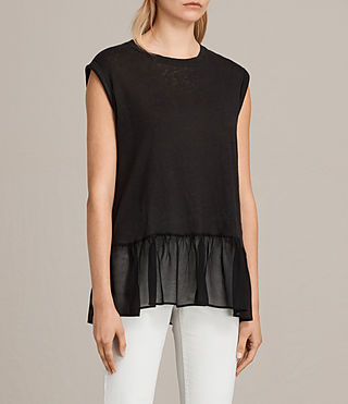 Womens Jody Top (Black) - product_image_alt_text_3