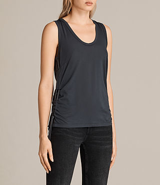 Mujer Camiseta Molly Devo (Washed Black) - product_image_alt_text_3