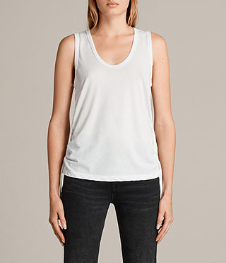 Womens Molly Devo Tank Top (SMOG WHITE) - product_image_alt_text_1