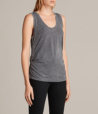 Women's Molly Devo Tank Top (COAL GREY) - product_image_alt_text_3