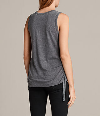 Women's Molly Devo Tank Top (COAL GREY) - product_image_alt_text_4