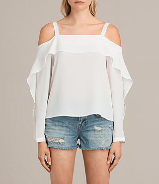 Women's Khan Top (Chalk White) - Image 1