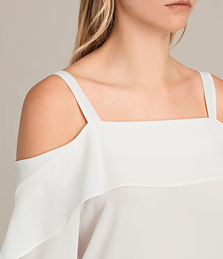 Women's Khan Top (Chalk White) - Image 2