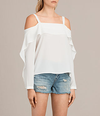 Women's Khan Top (Chalk White) - Image 3