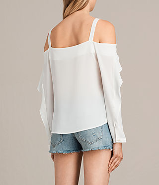 Women's Khan Top (Chalk White) - product_image_alt_text_4