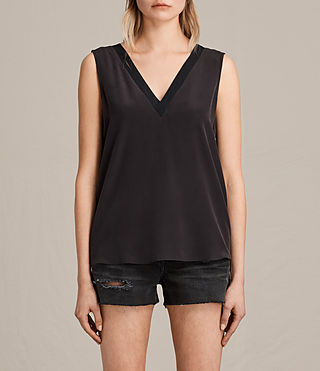 Damen Arla Silk Top (Black) -