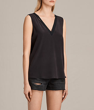 Damen Arla Silk Top (Black) - Image 2