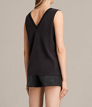 Damen Arla Silk Top (Black) - product_image_alt_text_3