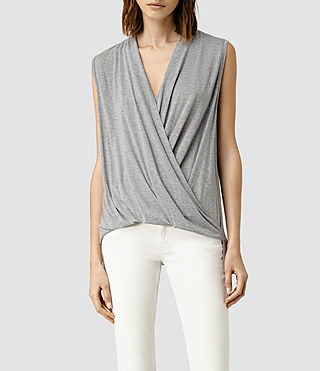 Womens Glo Top (Mist Grey Marl)