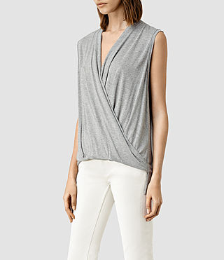 Womens Glo Top (Mist Grey Marl) - product_image_alt_text_2