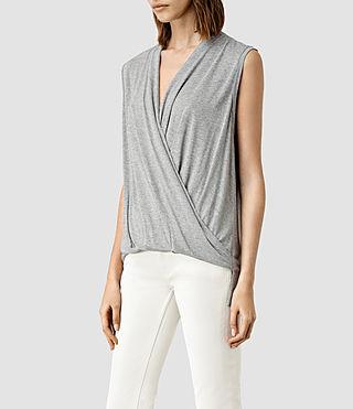 Women's Glo Top (Mist Grey Marl) - product_image_alt_text_2