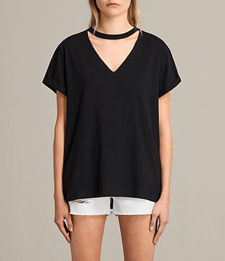Damen Emma Tee (Black) -