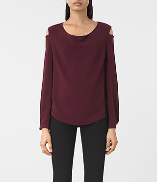 Damen Lia Top (Maroon)