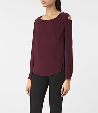 Women's Lia Top (Maroon) - product_image_alt_text_2