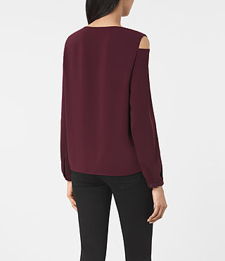 Women's Lia Top (Maroon) - product_image_alt_text_3