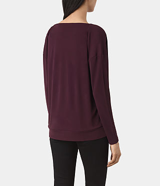 Mujer Lia Top (Maroon) - product_image_alt_text_4