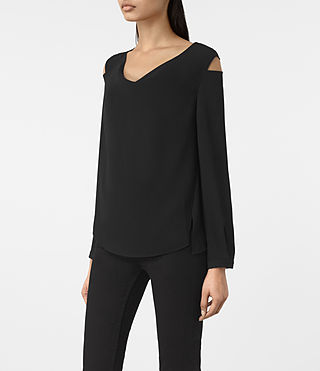 Mujer Lia Top (Black) - product_image_alt_text_2