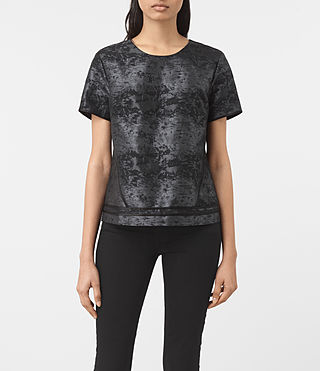Womens Jiro Jacquard Top (Black)