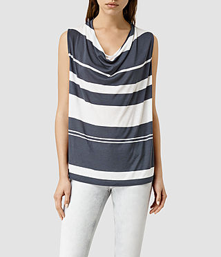 Womens Amei Stripe Top (INK BLUE/C.WHITE)