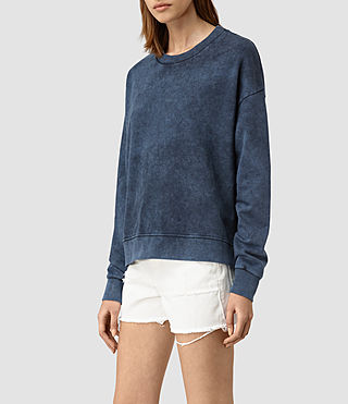 Mujer New Lo Sweatshirt (Denim Blue) - product_image_alt_text_2