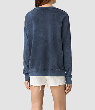 Mujer New Lo Sweatshirt (Denim Blue) - product_image_alt_text_3