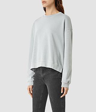 Mujer New Lo Sweatshirt (MIST BLUE) - product_image_alt_text_2