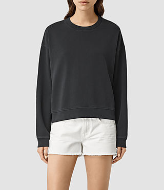 Womens New Lo Sweatshirt (Black) - product_image_alt_text_1