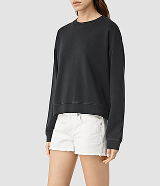Womens New Lo Sweatshirt (Black) - product_image_alt_text_2