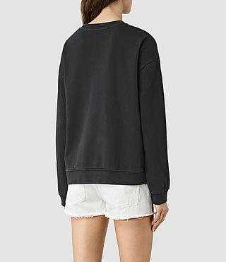Womens New Lo Sweatshirt (Black) - product_image_alt_text_3