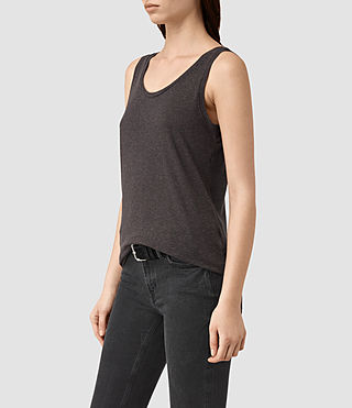 Womens Ona Tank (Washed Black)