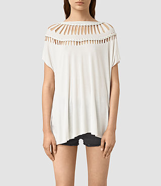 Damen Slash Tee (OYSTER WHITE)