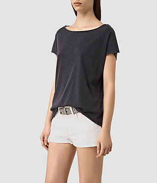 Femmes Slash Back Tee (Black) - product_image_alt_text_3