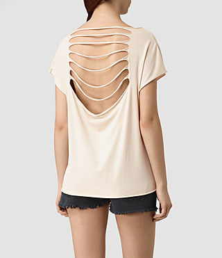 Mujer Slash Back Tee (Vintage Pink) - product_image_alt_text_4
