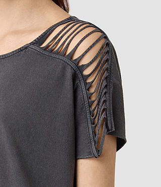Damen Slash Shoulder Tee (Black) - product_image_alt_text_2