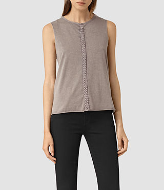Femmes Slash Vest (MAUVE GREY) - product_image_alt_text_2