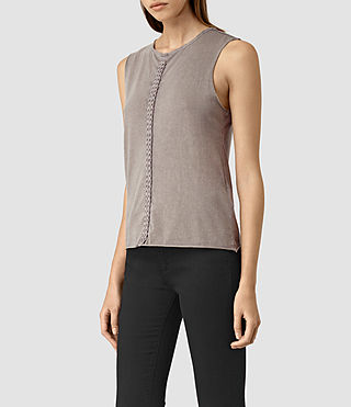 Femmes Slash Vest (MAUVE GREY) - product_image_alt_text_3