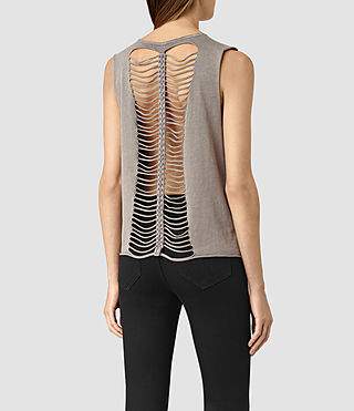 Femmes Slash Vest (MAUVE GREY) - product_image_alt_text_4