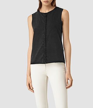 Womens Slash Vest (Black) - product_image_alt_text_1