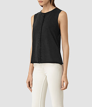 Damen Slash Vest (Black) - product_image_alt_text_3