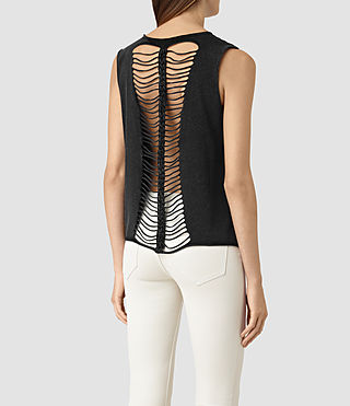 Womens Slash Vest (Black) - product_image_alt_text_4