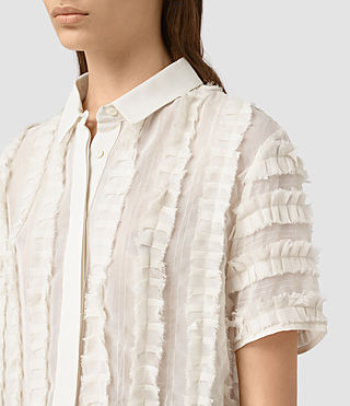 Donne Emrys Ruffle Shirt (OYSTER WHITE) - product_image_alt_text_2